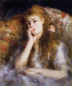 Poucos retrataram a alma feminina com tamanha delicadeza! La songeuse - jeune femme assise - 1877