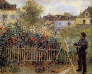 Renoir retratou Claude Monet pintando no jardim em Argenteuil - 1873
