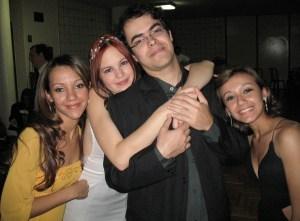 Eu e Nádia no casamento de Nat e Ricardo