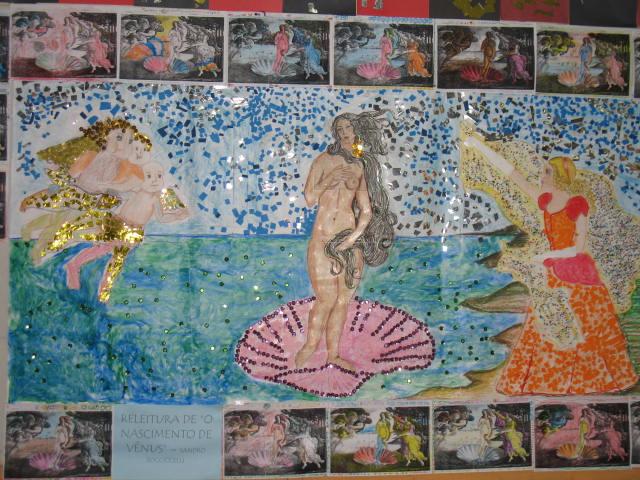 Releitura O Nascimento de Venus - alunos Educação Infantil 2006