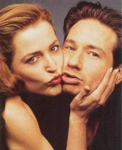 David e Gillian, que protagonizaram um dos melhores casais da história da TV.