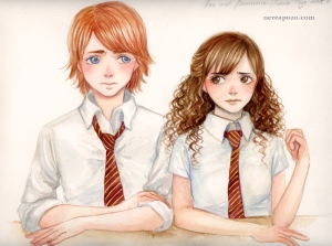 Ron_and_Hermione__accuareil__by_keerakeera