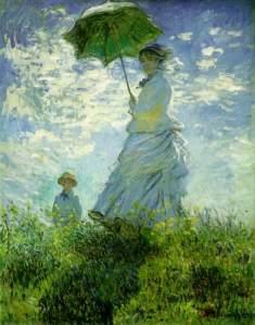 Mulher com sombrinha de Monet