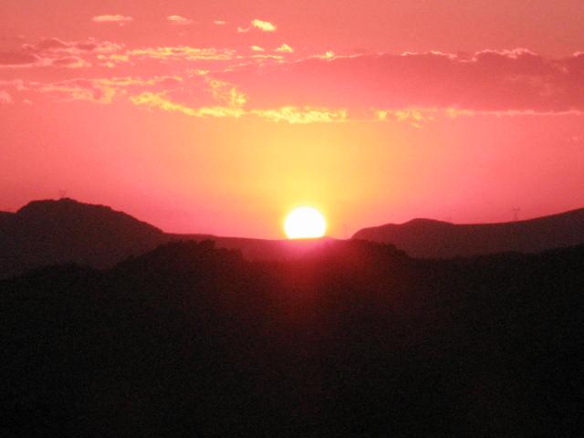 Por do Sol do mirante em Lavras Novas